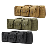 36inch Tactical Camouflage Fishing Tackle Camping Bag Multifunctional Storage Bag Double Padded Backpack