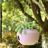 Plastic Hanging Planter Pot Home Yard Hanging Flowers Baskets With Chain