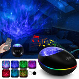DC5V USB bluetooth RGBW LED Ocean Wave Night Light Star Projector Lamp   Romantic Decor Remote+Touch Control