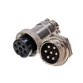 GX20 7 Pin 20mm Male & Female Wire Panel Circular Connector Aviation Socket Plug