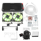 240mm DIY PC Kit Kipas Pendingin cairan Air Pendingin Set CPU Block Water Pump Reservoir Hose