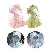 ZANLURE Erwachsene / Kinderentfernbarer PVC Transparenter Antibeschlagschutz Hut Maske Speichelschutz Gesichtsschutz Angeln Sonnenschutz Hut