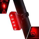 XANES TL10 5 LED 5 Modes Bike Tail Light Voděodolný Nabíjení USB Reflective Shell Bicycle Rear Light