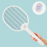 3PCS Jordan&judy 3000V Electric Mosquito Swatter Portable Insect Repellent Travel Three-layer Anti-electric Shock Net USB Charging Mosquito Dispeller from