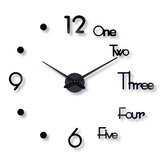 27/47 inch DIY Simple Round Fashion Punch-free Wall Clock Acrylic Home Creative Decoration Clock