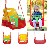 3-in-1 Kids Swing Seat Safety Secure Hanging Chair Baby Swing Outdoor Garden for More Than 6 Months