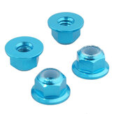 4PCS HSP 94101 94102 94105 1/10 Rc Car Upgrade Parts 102049 02055 Aluminum Alloy M4 Nylon Locknut