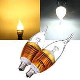 E12 3W AC85-265V أبيض / دافئ أبيض ذهبي غطاء ليد شمعة ضوء لمبة