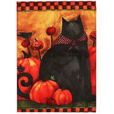 Halloween Party Home Decoration Black Cat Pumpkin Flag Toys For Kids Children Gift