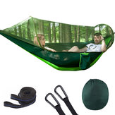 Outdoor Automatic Quick Open Portable Camping Hammock with Mosquito Double Parachute Hammocks Swing Sleeping Hammock Bed with Net Tent
