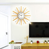 65*65cm Clear Wide Large Density Board Wall Clock With 3D Butterfly Stickers