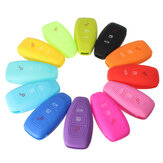 Silicone 3-Button Remote Key Fob Case Cover for FORD FOCUS MONDEO KUGA FIESTA FUSION