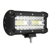 7 Inch Tri Row 40W LED Work Light Bars Flood Spot Combo Beam IP68 6000K for Off Road Truck SUV