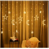 3,5 M LED Moon Star Fairy String Light Wedding Holiday Holiday Home Dekoracja domowa Wtyczka UE AC220V