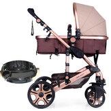 أزياء عربة طفل رضيع عربة أطفال حديثي الولادة سفر طوي عربة يدفع باليدين