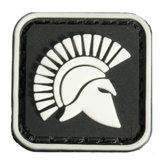 2.5X2.5cm Square Mini Molon Labe King Of Sparta Glow Tactical Army PVC Patch Brassard Black