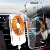 Bakeey B8 Magsafe Magnetic Fast Charging Wireless Car Charger Ponsel Ventilasi Udara Dudukan Mount untuk iPhone 12 Series