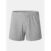 Mens Cotton Solid Color Thin Breathable Loose Comfy Home Shorts Boxers