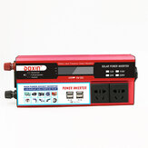 6000W Peak DC 12V / 24V a AC 220V Power Inverter Digital Socket Wave a 4 prese modulari con 2 prese USB
