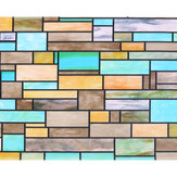 2m Brick Static Cling Cover Frosted Window Glass Film Sticker Privacy Home Decor