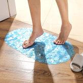 Honana BX-129 68x38cm PVC Pebbles Transparent Non-slip Bathroom Mat Kitchen Bath Suction Cups Non-toxic Floor Rug