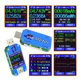 Bakeey UM25C / UM25 USB2.0 Renk LCD Ekran Type C Gerilim Akım Kablo Direnci Ölçü Test Cihazı