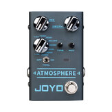 JOYO R-14 ATMOSPHERE Reverb Guitar Pedal SPRING/CHURCH/PLATE/EKO-VERB/SHIMMER/COMETS/REWIND/FOREST/PULSE 9 Digital Reverb Effect