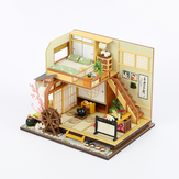 Doll House Furniture Diy Miniature Puzzle Assemble 3D Miniaturas Dollhouse Kits Toys for Children Birthday Gift Japanese Style Building