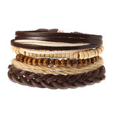 Trendy Wrap Bracelet Multilayer Bead Chain Jewelry Gift Men Bracelet