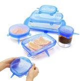 6 قطعة سيليكون أغطية قابلة للتمدد غطاء عالمي سيليكون غطاء وعاء وعاء سيليكون غطاء عموم الطبخ الغذاء غطاء طازج غطاء الميكروويف