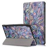 Tri-Fold Печатный планшет Чехол Чехол для планшета Lenovo Tab E10 - Листья дерева
