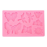 Butterfly Dragonfly Insects Silicone Mould Fondant Cake Mold Baking Tool
