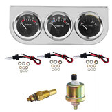 2'' Bezel Voltmeter Water Thermometer Temp Oil Pressure Electrical Gauge