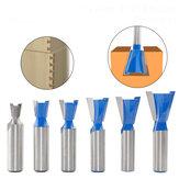 6 шт. 1/2 дюймов 12 мм хвостовик фреза для соединения ласточкин хвост набор 2 флейты 14 градусов Деревообработка гравировка из карбида вольфрам