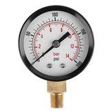 TS-Z52 दबाव नापने का यंत्र 1/8 इंच एनपीटी साइड माउंट 0-200psi 0-14bar दबाव गेज डायल हवा कंप्रेसर मीटर हाइड्रोलिक