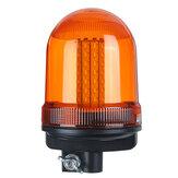 80 SMD LED 12V-24V Rotação piscando estroboscópica farol luz de aviso de emergência âmbar