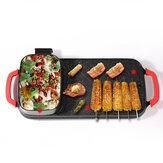 Regolatore automatico a 5 velocità Teppanyaki Piatto 2400 W multifunzione grill elettrico senza fumo Piastra riscaldante
