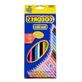 Matite colorate 12 colori media concentrazione Olio Set di matite colorate Artista Pittura Schizzo Penna in legno inglese Scatola da disegno per bambini Matita