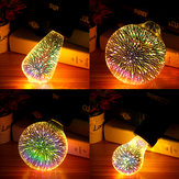 E27 6W Colorful 3D Christmas Holiday LED Firework Light Hem Dekorationslampa LED-lampa