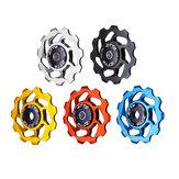 ZTTO 11T 4/5/6mm Ceramic Bearing Aluminum Alloy MTB Bicycle Rear Derailleur Wheel Bicycle Rear Derailleur Ceramic Bearing