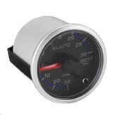 ELUTO 12V 2Inch 52mm Car Turbo Boost Pressure Gauge Meter LED Display Black Face