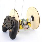 Neumático de rueda de madera de bricolaje Control remoto Coche Modelo Robot Toy Science Experiment
