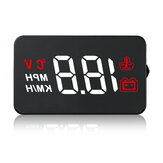 3.5 Inch Car HUD Head Up Display Windshield Projecter OBD2 Speed RPM Water Temperature Voltage Display