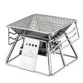 CAMPINGMOON X-MINIポータブルステンレス鋼折りたたみバーベキューグリルノンスティックサーフェスバーベキューグリルホーム屋外キャンプピクニックツール