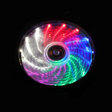 15LED Ring Fan RGB Light Ultra Silent 12V 120mm Computer Case PC Cooling Fan