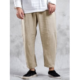 Banggood Designed Mens 100% Cotton Solid Color Breathable Casual Pants