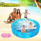 3Layer Summer Kids Swimming Pool Children Water Paddling Activity Inflatable Fun Playing Pool Children's Folding Tub Basin Baby Swim Tub