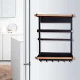 Edelstahl Kühlschrank Seite Magnetische Saugablage Multifunktionale Punch-Free Gewürz Lagerregal für die Küche