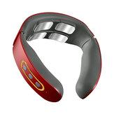 6モードパルス電動ネックマッサージャー42℃加熱頸部首体肩筋リラックス鎮痛装置USB充電式
