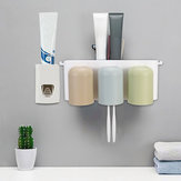 Automatic Toothpaste Dispenser 6 Toothbrush Holder 3 Cups